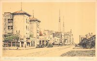 Artist Drawing Postcard Hollywood Boulevard in Hollywood, California~115903