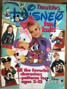 Vintage New Idea Disney character Fun Knits knitting pattern booklet