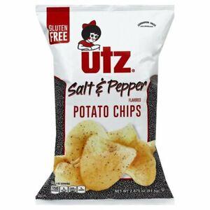 UTZ - Salt & Pepper - Potato Chips - 2.875oz (Choose 2 or 3 Bags)