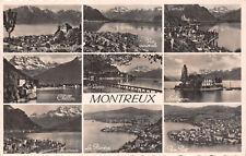 R234092 Montreux. Multi View. Perrochet. Phot. Lausanne. No. 6502. 1947