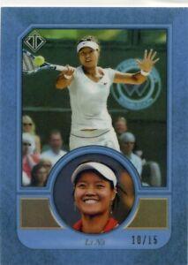 2020 Topps Transcendent Tennis HOF LI NA VIP Blue Refractor No 4 #10/15