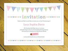 15 Personalised Invitations Naming Day Christening Birthday bunting