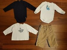 LOT Gymboree Old Navy Boys Winter Bodysuits Top Athletic Pant Clothes 3-6 Months