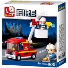 New Sluban Kids Fire Truck Bucket Truck Building Blocks 82 Pcs Kids Building Toy