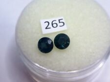 Natural Australian Sapphires Pair of 2 x 4mm round, total of .78cts. ID # 265