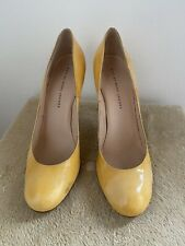 Marc By Marc Jacobs Beige/Yellow Patent Leather Heels Pumps Sz 40,5