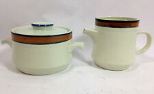 Vintage International Stoneware Dutch Orange 3 PC Creamer and Sugar Set Japan