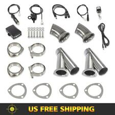 """2Pcs 3"""" Electric Exhaust System Catback Valve Kit w/Remote Control Manual Switch"""