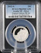 2012 S Silver Quarter Limited Edition Acadia NP PCGS PR69 DCAM