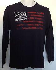 Ralph Lauren Boys T-Shirt Navy American Flag Polo Rl Graphics Ls Sz Xl 18-20 Nwt
