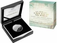2019 NEW MAP OF THE WORLD COLUMBUS Silver Proof Coin