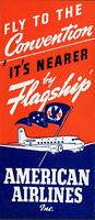 10 American Airlines 1950s Original Luggage Label Sticker