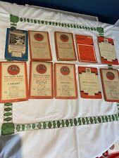 10 Cloth and Paper Ordance Survey Maps Vintage Ephemera