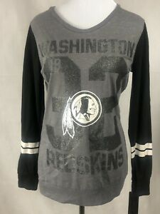 NFL Juniors Collection Washington Redskins 3/4 sleeve Gray -Shirt LG 11/13