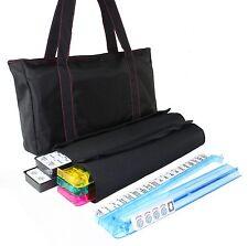 American Mahjong Waterproof Black Nylon Red Stitches Bag 4 Color Pushers/Racks