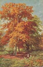 Postcard Nister Series 157 In Epping Forest ca1907-10 Fall Trees Printed Bavaria