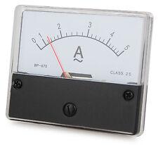 Messinstrument 0 - 5 A AC zum Einbau, Einbaumessinstrument, Analog Amperemeter