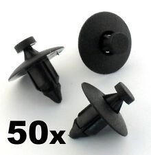 50x rivet plastique fixation CLIPS- bordure panneaux,pare-choc,fascias,