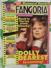 Fangoria #102 Magazine SIGNED BY 7 ACTRESSES B. STEELE + 2 Mags signed by LINNEA