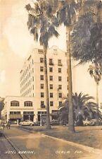 Ocala FL Hotel Marion Old Cars RPPC Postcard