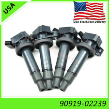 4pcs Ignition Coils 90919-02239 Denso For Toyota Corolla Celica Chevy UF247 1.8L