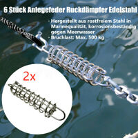 Anlegefeder Edelstahl Ruckdämpfer Feder Festmacher Boot Zugdämpfer Sportboot