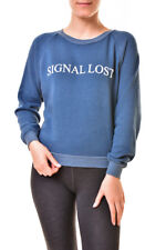 Wildfox Womens WFL19054T Signal Lost Junior Sweatshirt Blue S RRP£109 BCF811