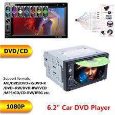 "Bluetooth Car Stereo DVD CD Player 6.2"" 2Din Radio FM AUX USB TF Mirror Link"