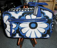 NEW* COACH Poppy; Blue Floral Scarf Print Crossbody Flight Bag 25121, MSRP $168