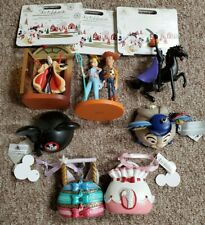 Set (7) Disney Authentic Ornaments--Sketchbook, Purse, Ear Hat New With Tags