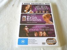 My Best Friend's Wedding  / Erin Brockovich  / Mona Lisa Smile (DVD,2006,3-Disc)