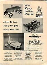 1966 ADVERT McCauley Metal Toy Products Road Service Peadl Car Coaster Wagon