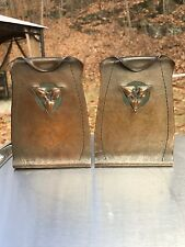 Antique, pair of  signed Roycroft bookends.