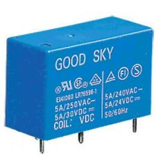 24V Relay coil 10 Amp  contacts 10A volt Power PCB mount single pole change over