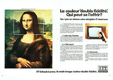 Publicité Advertising 088  1973   téléviseur ITT schaub -Lorenz (2 pages) Jocond