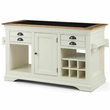 Palais cream painted furniture large granite top kitchen island unit RRP £599