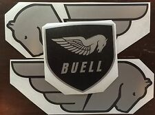 Buell Pegasus and Shield Decals. Silver and Black. Or Choose Your Colors.