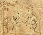 """Vintage / Antique  8""""x8"""" Romantic Tapestry, made it France, age unknown"""