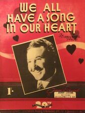 WE ALL HAVE A SONG IN OUR HEART. -  ROGER YALE. -  SHEET MUSIC