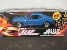 NIB American Muscle Gone in 60 Seconds 1970 Boss Blue Mustang 429 1:18 Die Cast
