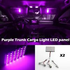 (2) 36SMD LED 3528 SMD Car Interior Light Panel Bulb T10 Dome BA9S Purple
