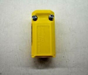 Legrand Pass & Seymour 15 Amp 125-Volt Yellow 3-Wire Grounding Plug PS5969-YCC20