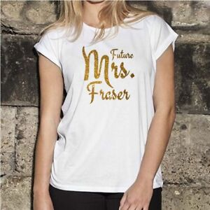 Future Mrs Wedding/Engagement Personalised Trendy T-Shirt, Gold or Silver