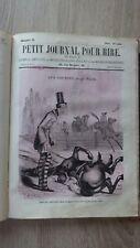PETIT JOURNAL POUR RIRE 1ere Serie (1856) NADAR Nr 1-52 Tete de collection RARE