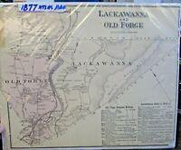 rare 1877 TALBOT COUNTY Maryland Hand Color STREET MAP Matthewstown WYE MILLS