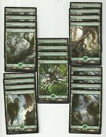 20X FOREST FULL ART  basic land- Battle for Zendikar - MTG Magic the Gathering