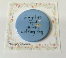 58mm Pocket Mirror Bride Something Blue Bag Purse Hen Night Wedding