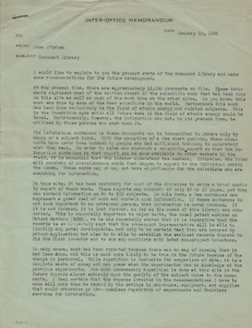 Important Memo Issued by Robert Oppenheimer - Creation of Atomic Bomb Archive