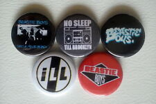 "5 x Beastie Boys 1"" Pin Button Badges ( old school rap hip hop licensed to ill )"