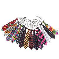 Satin coloré collier cravate pour les enfants de mariage garçons école liens